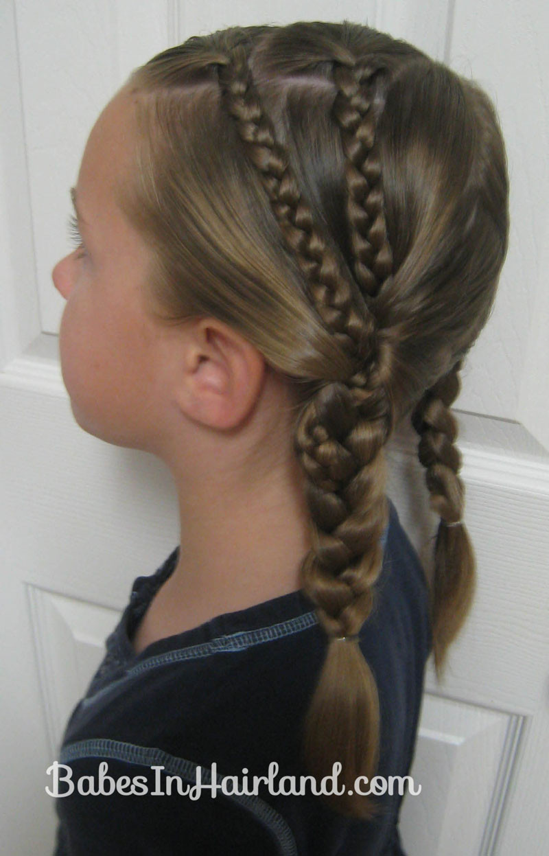 Double Braid Hairstyles  Double Braids into Pocahontas Braids Babes In Hairland