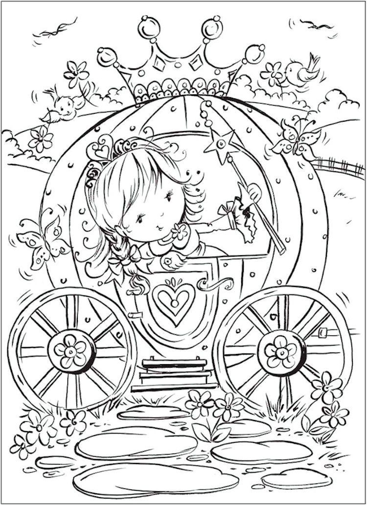 Dover Free Coloring Pages  Dover Pretty Princess Coloring Page 3