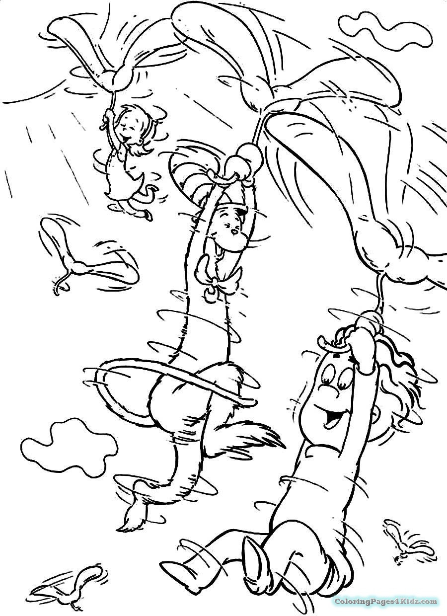 Dr.Seuss Coloring Book  Happy Birthday Dr Seuss Coloring Pages