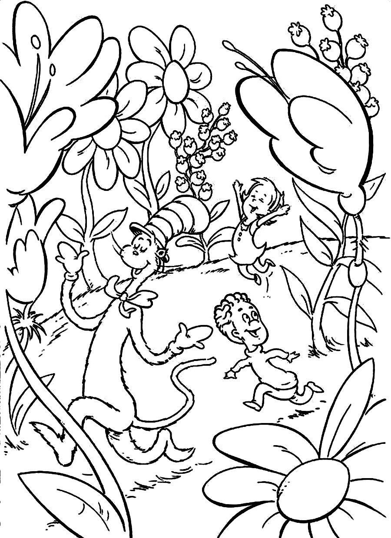 Dr.Seuss Coloring Book  Dr Seuss Coloring Pages Bestofcoloring
