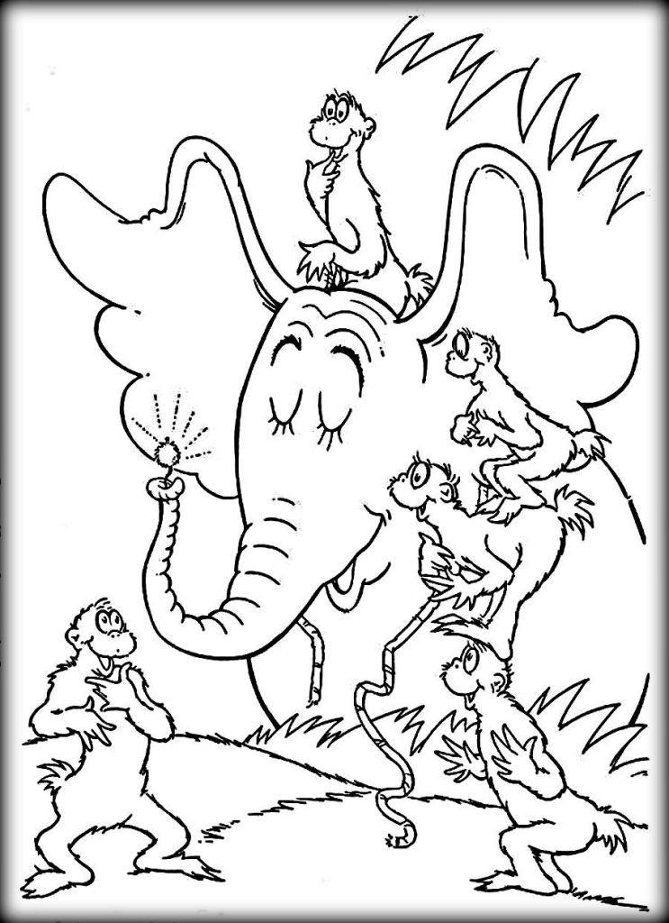 Dr.Seuss Coloring Book  Top 10 Dr Seuss Coloring Pages For Kindergarten Color Zini