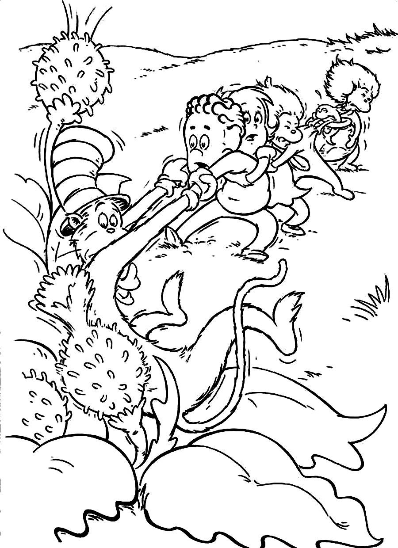 Dr Seuss Coloring Pages For Kids  dr seuss coloring pages free coloring pages for kids 23
