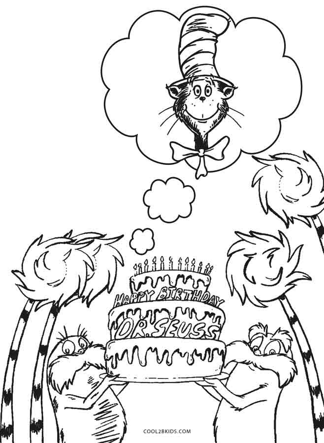 Dr Seuss Coloring Pages For Kids  Free Printable Dr Seuss Coloring Pages For Kids