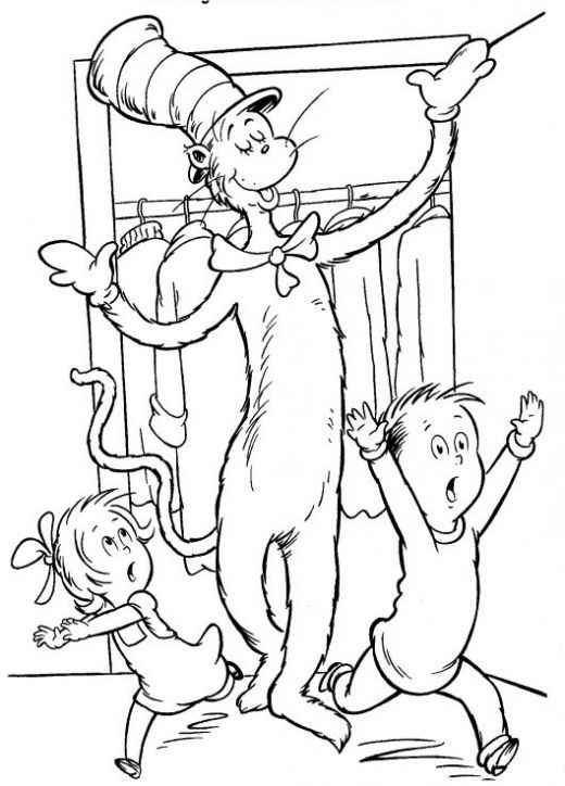 Dr Seuss Coloring Pages For Kids  Fun Coloring Pages Cat in the Hat Coloring Pages Dr Seuss