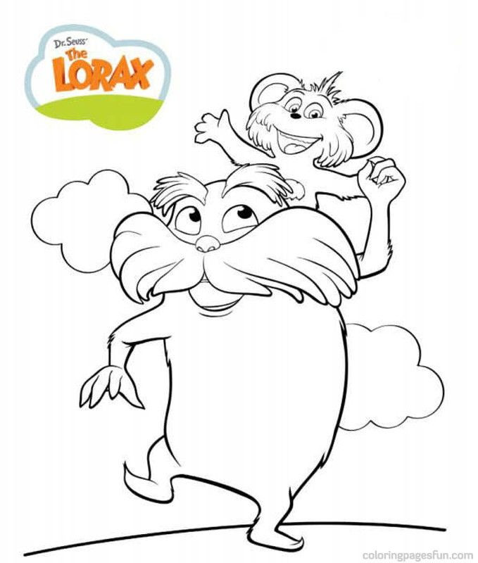 Dr. Seuss Preschool Coloring Sheets  Dr Seuss the Lorax Coloring Pages 7 Free Printable