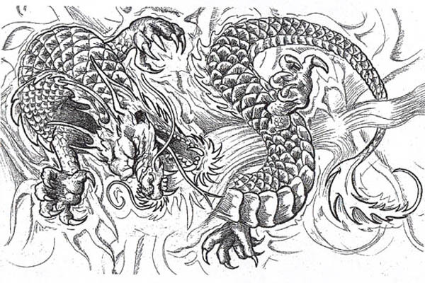 Best ideas about Dragon Adult Coloring Books . Save or Pin Dragon Tattoos and Designs Page 97 Now.