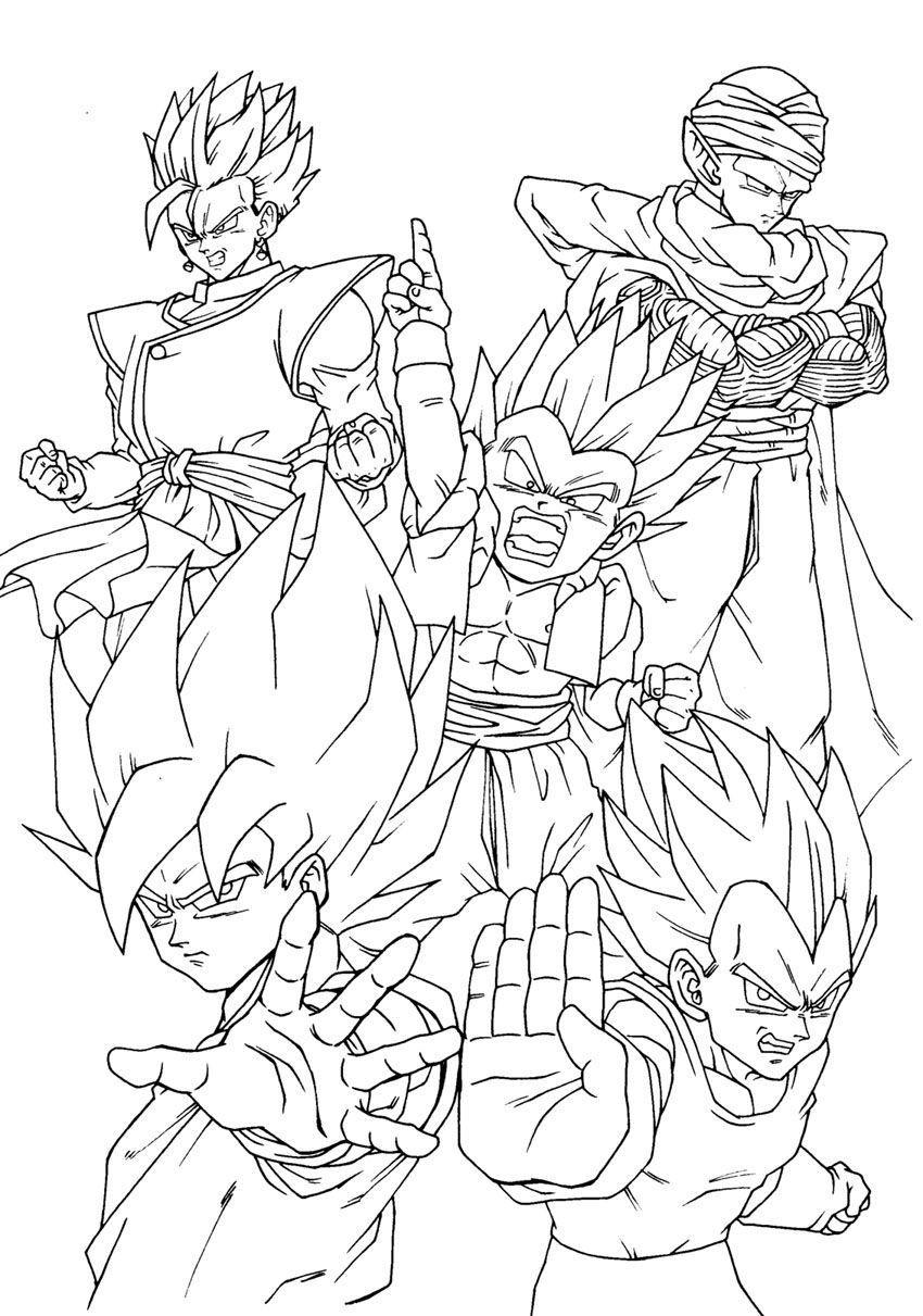 Dragon Ball Super Coloring Pages  Dragon Ball Super Coloring Pages Coloring Home