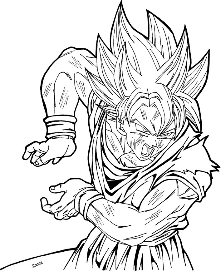 Dragon Ball Super Coloring Pages  Dragon Ball Z Super Saiyan 4 Coloring Pages AZ Coloring