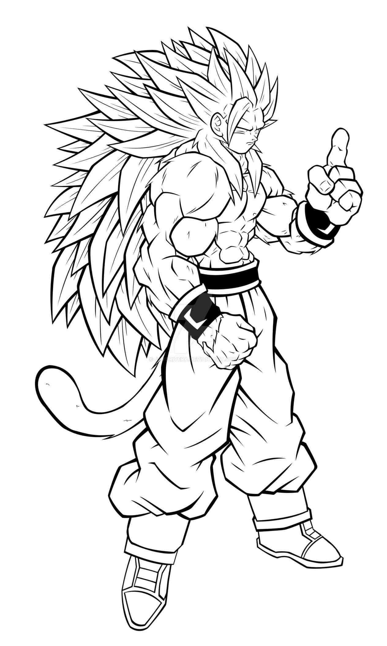 Dragon Ball Super Coloring Pages  Dragon Ball Z Coloring Pages Goku Super Saiyan 5 AZ