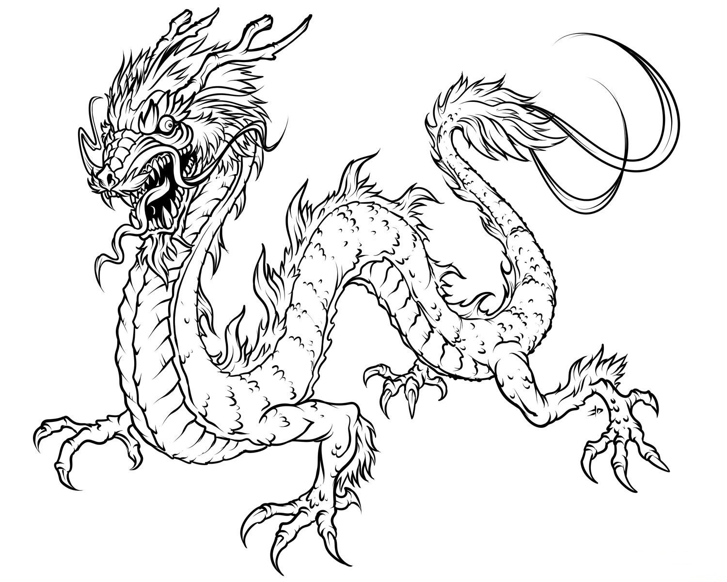 Dragon Coloring Pages For Girls  Chinese Dragon Coloring Pages Colouring pages