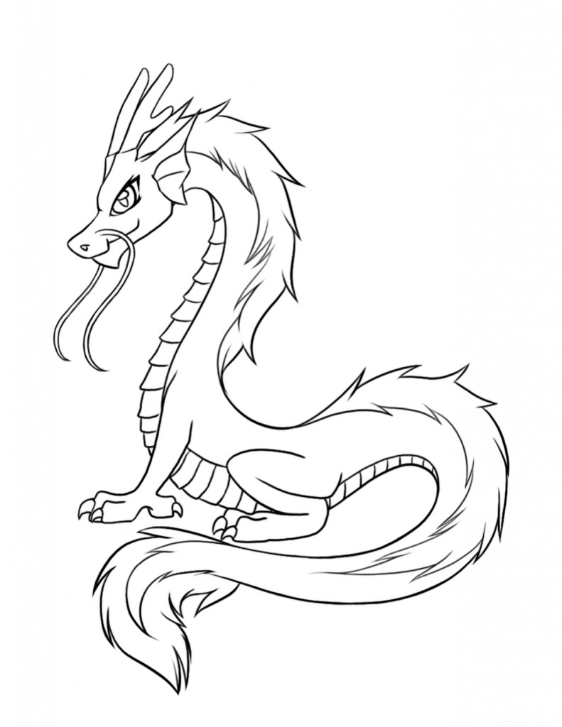Dragon Coloring Pages For Girls  Free Printable Dragon Coloring Pages For Kids