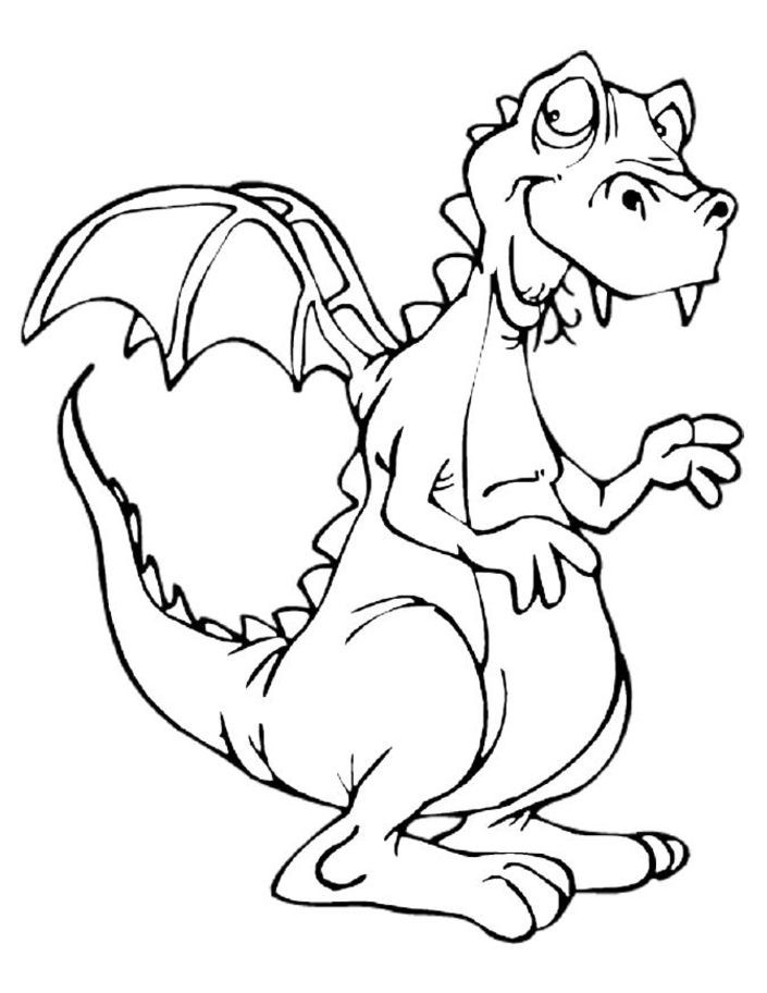 Dragon Coloring Pages For Girls  Funny Dragon Coloring Pages Colouring pages