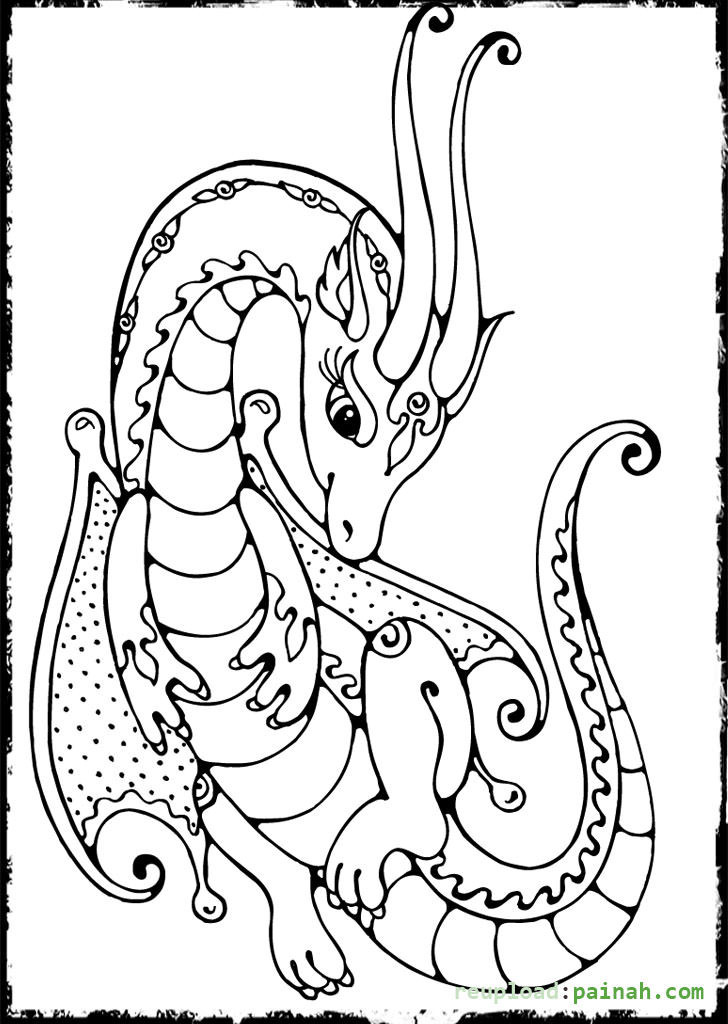 Dragon Coloring Pages For Girls  Dragon Female Beautiful Coloring Pages Coloring Pages