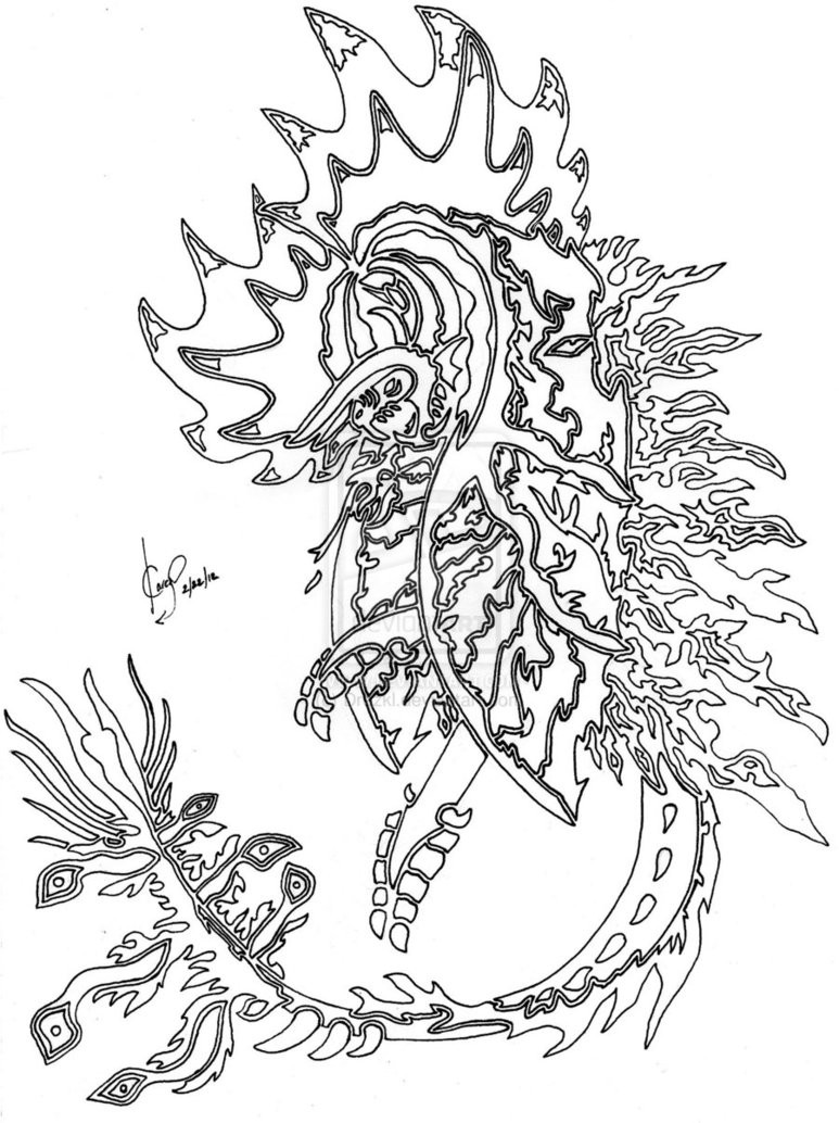 Dragon Coloring Pages For Girls  Dragon To Color In Girls The Color Panda
