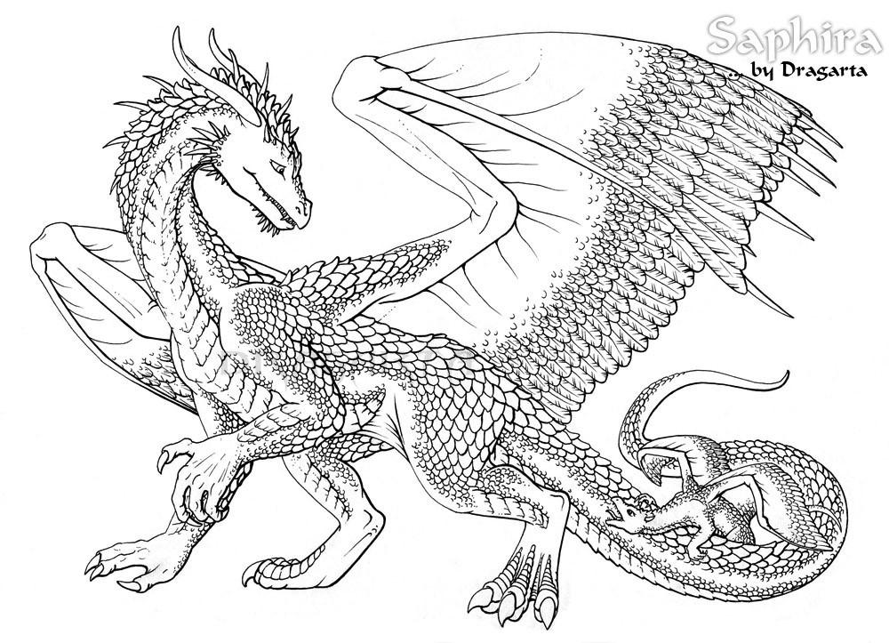 Dragon Coloring Pages For Girls  Mythological Dragons 35 Dragon coloring pages and pictures