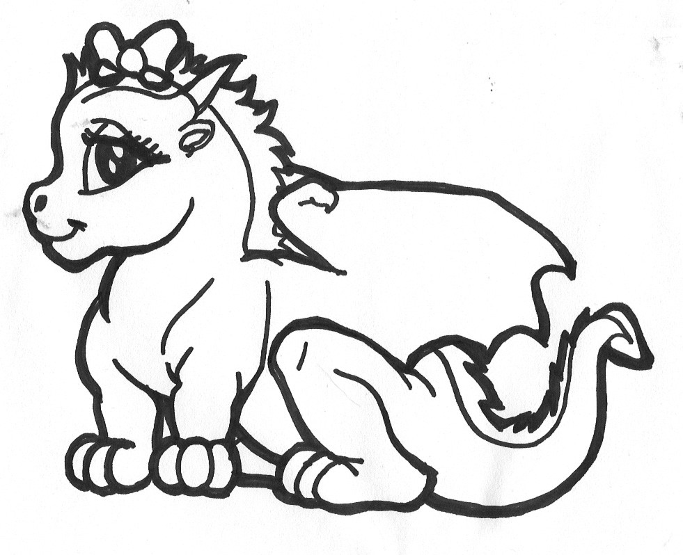 Dragon Coloring Pages For Girls  Detailed Dragon Coloring Pages AZ Coloring Pages