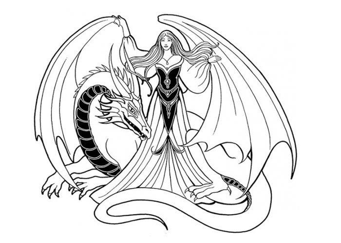Dragon Coloring Pages For Girls  GIRLY COLORING PAGES Free Coloring Pages