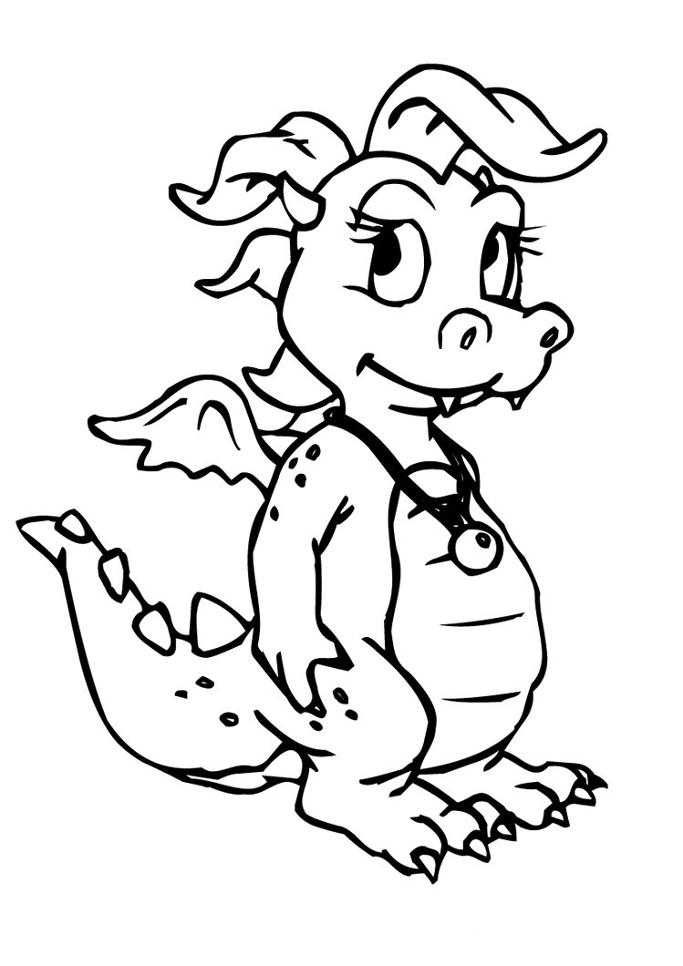 Dragon Coloring Pages For Girls  Dragon Coloring Pages Realistic