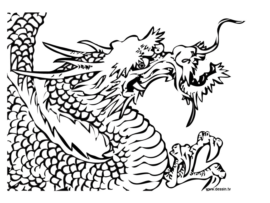 Dragon Coloring Pages For Girls  Chinese Dragon Coloring Sheet Real Pages grig3