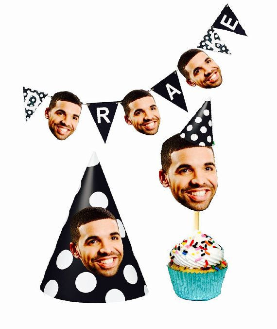 Best ideas about Drake Birthday Party . Save or Pin Drake Party Set by Celebparty on Etsy Now.