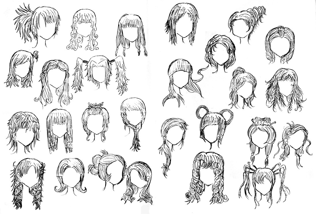 Drawings Of Anime Hairstyles  Weird Hairstyles by DNA lily on DeviantArt