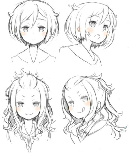 Drawings Of Anime Hairstyles  Anime hairstyles new trend among teenagers