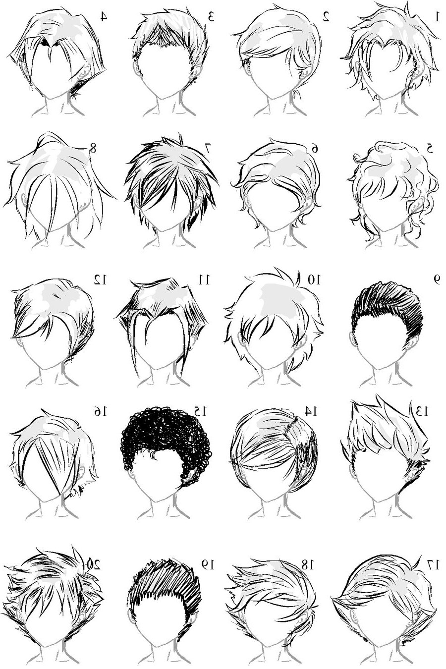 Drawings Of Anime Hairstyles  Boy Hairstyles Drawing HairStyles