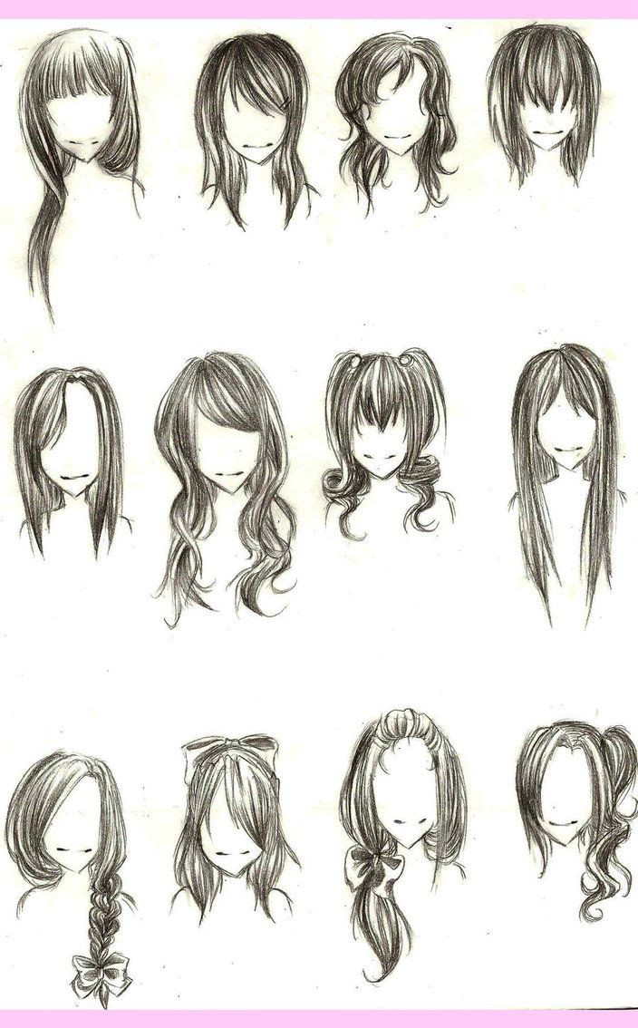 Drawings Of Anime Hairstyles  Chibi hairstyles Chibi Anime Pinterest