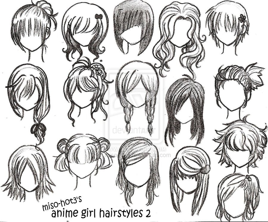 Drawings Of Anime Hairstyles  How Quickly Does Hair Grow Cute Ponytail Ideas Short Hair