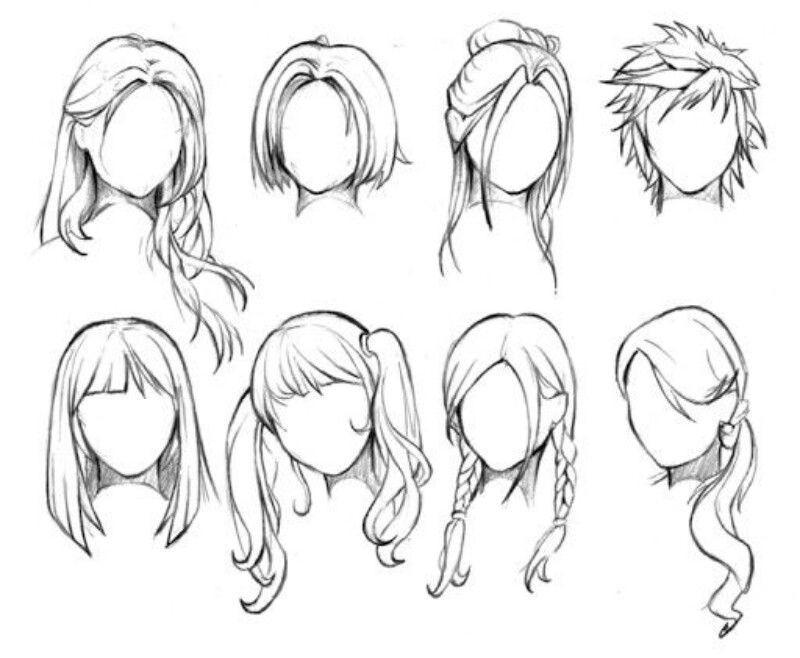 Drawings Of Anime Hairstyles  Mas estilos de peinados para dibujar More hair styles