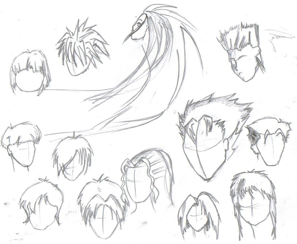 Drawings Of Anime Hairstyles  Cool Anime Hairstyles