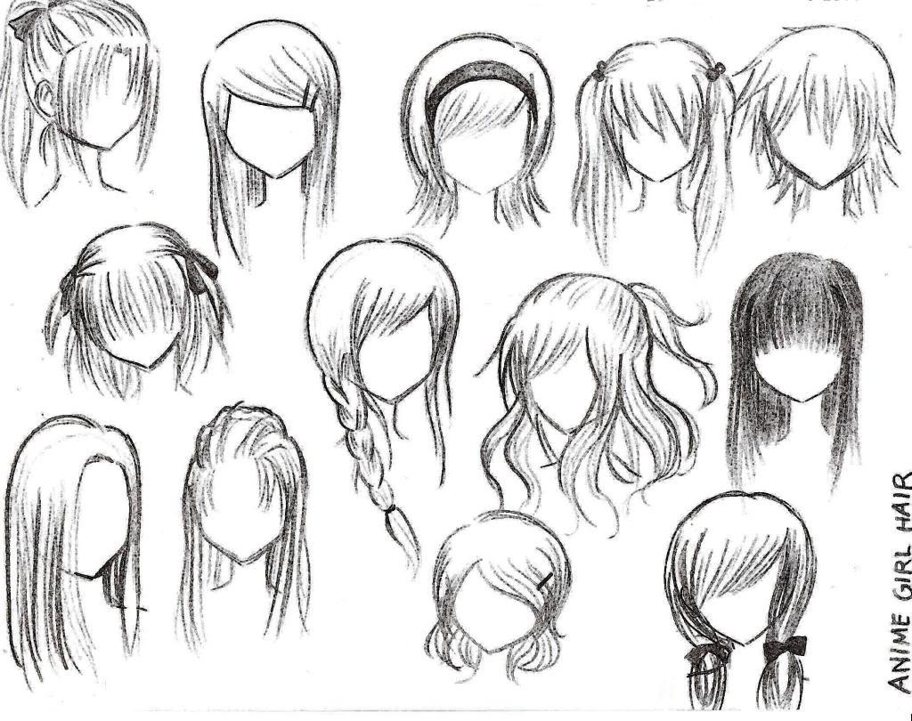 Drawings Of Anime Hairstyles  Drawings anime hairstyles