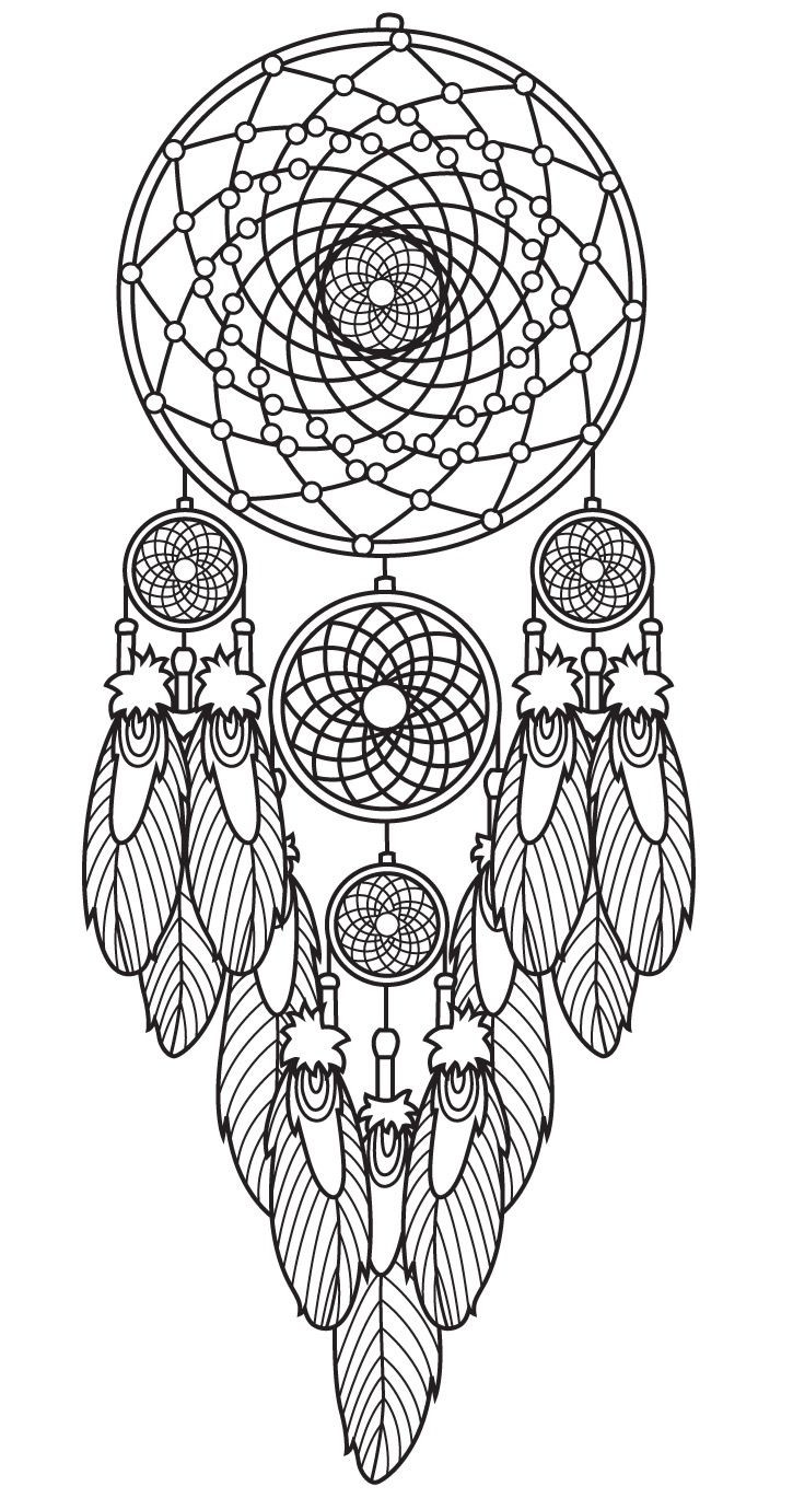 Dreamcatcher Printable Coloring Pages  Dreamcatcher coloring page