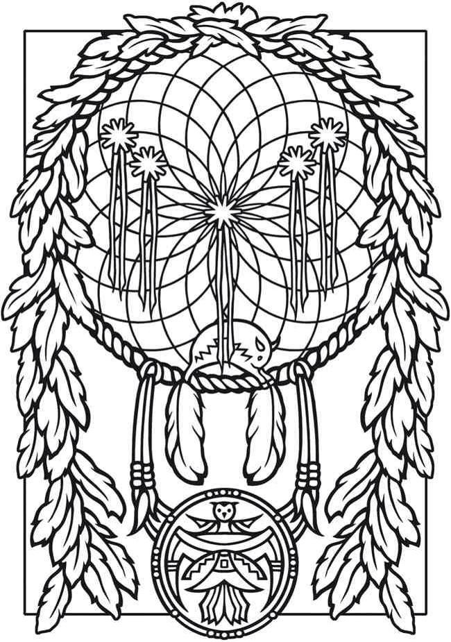 Dreamcatcher Printable Coloring Pages  Dream Catcher Coloring Pages Coloring Home