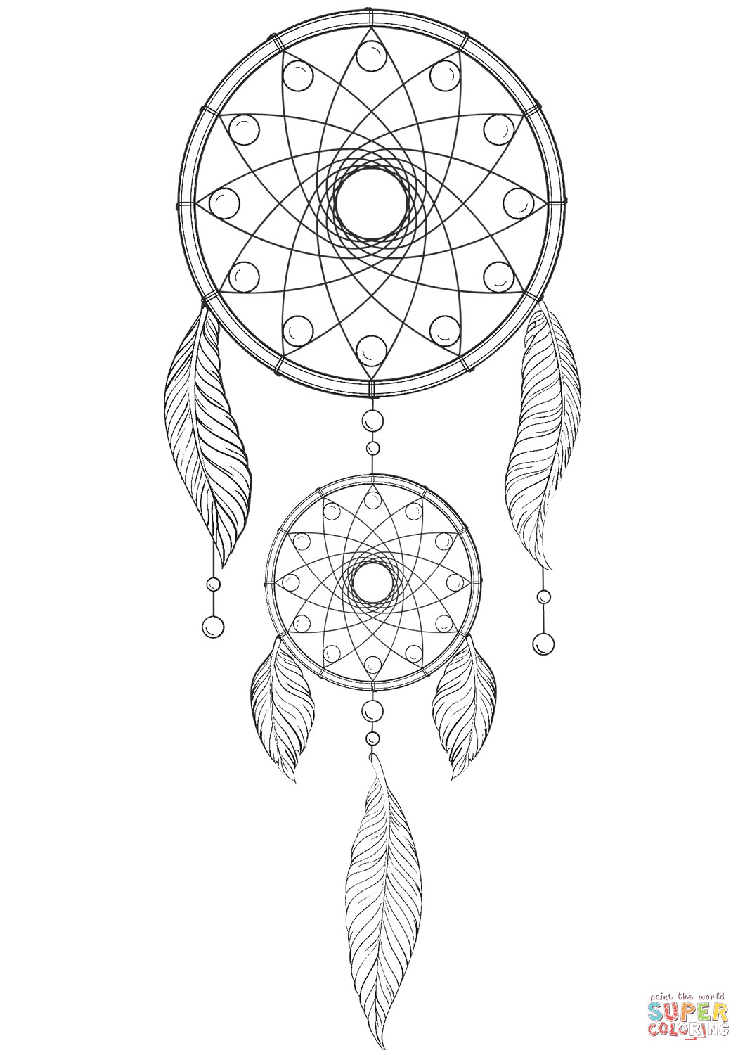 Dreamcatcher Printable Coloring Pages  Dream Catcher coloring page