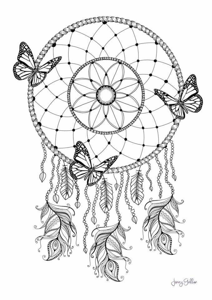 Dreamcatcher Printable Coloring Pages  Dream Catcher Coloring pg Colouring Pages