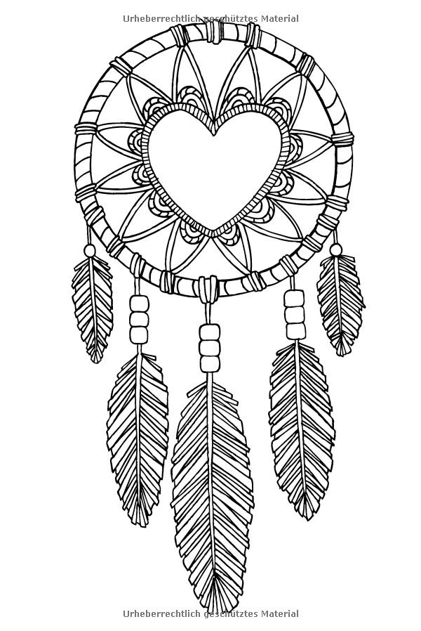 Dreamcatcher Printable Coloring Pages  159 best DreamCatcher Coloring Pages for Adults images on
