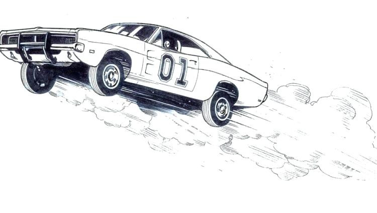 Dukes Of Hazzard Coloring Pages For Kids  Dukes Hazzard Car Coloring Pages General Lee – acnee