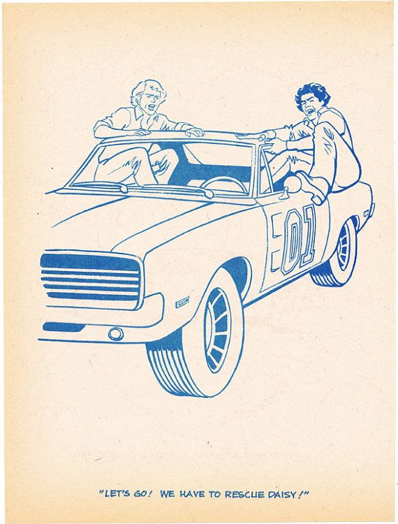 Dukes Of Hazzard Coloring Pages For Kids  Coloring book page Dukes of Hazzard angry jump into
