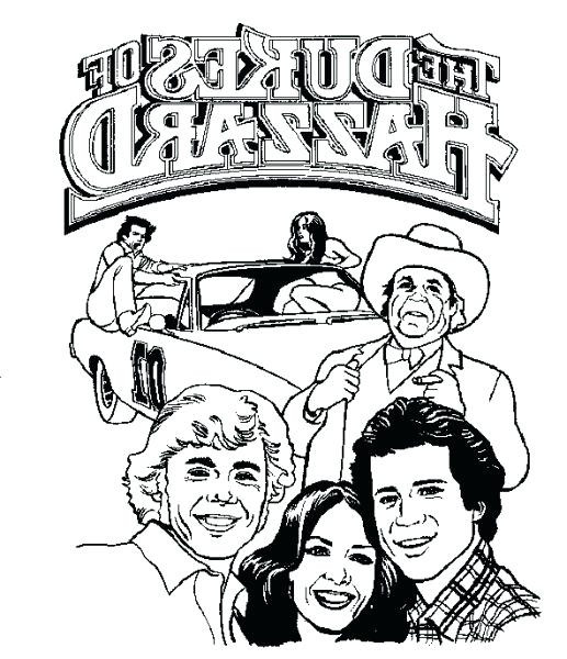 Dukes Of Hazzard Coloring Pages For Kids  Dukes Hazzard Coloring Pages Dukes Coloring Pages