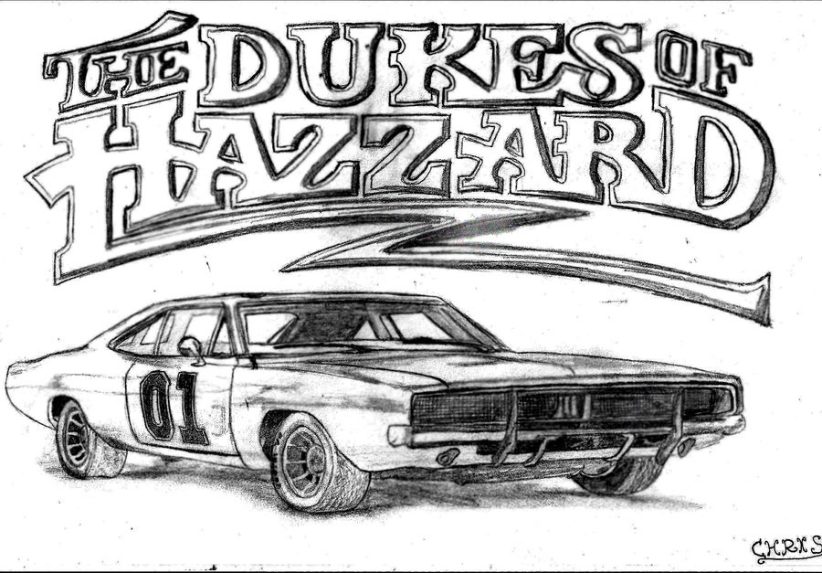 Dukes Of Hazzard Coloring Pages For Kids  Dukes Hazzard Coloring Pages Coloring Home
