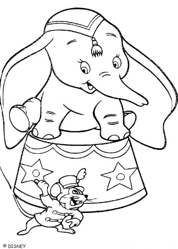 Best ideas about Dumbo Coloring Book Pages . Save or Pin Dumbo und tim 1 zum ausmalen de hellokids Now.