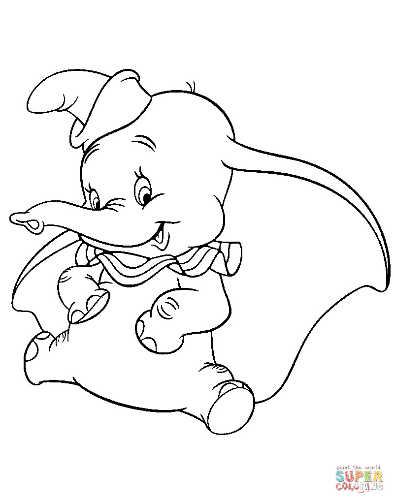 Best ideas about Dumbo Coloring Book Pages . Save or Pin Lovely Dumbo coloring page Now.
