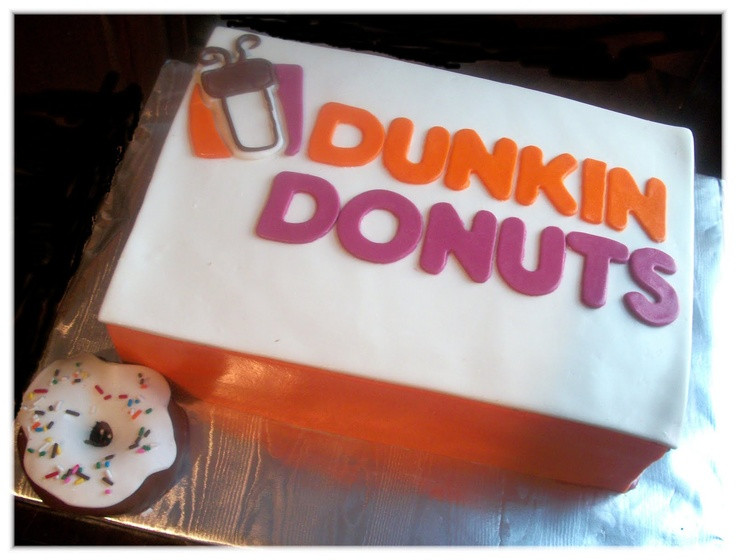 Dunkin Donuts Birthday Cake  17 best images about Creativity Runs Dunkin on