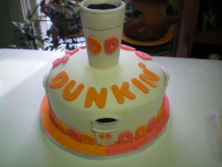 Dunkin Donuts Birthday Cake  Dunkin Donuts Birthday Cake Mm Fondant Vanilla And