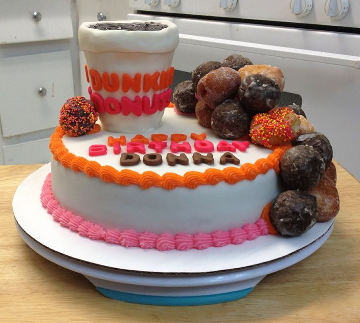 Dunkin Donuts Birthday Cake  17 Best images about CAKES BY MY FRIEND CRYSTAL on