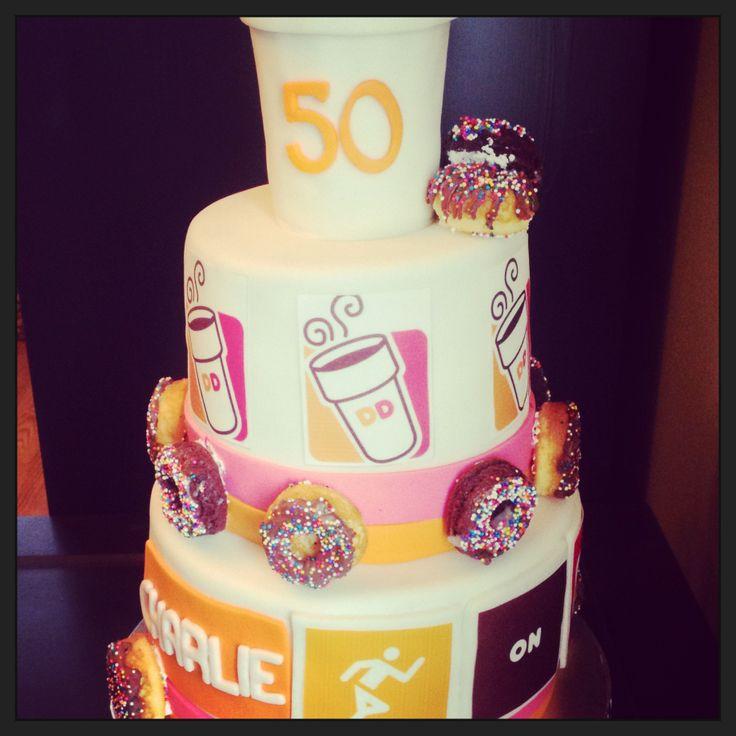 Dunkin Donuts Birthday Cake  78 best Creativity Runs Dunkin images on Pinterest
