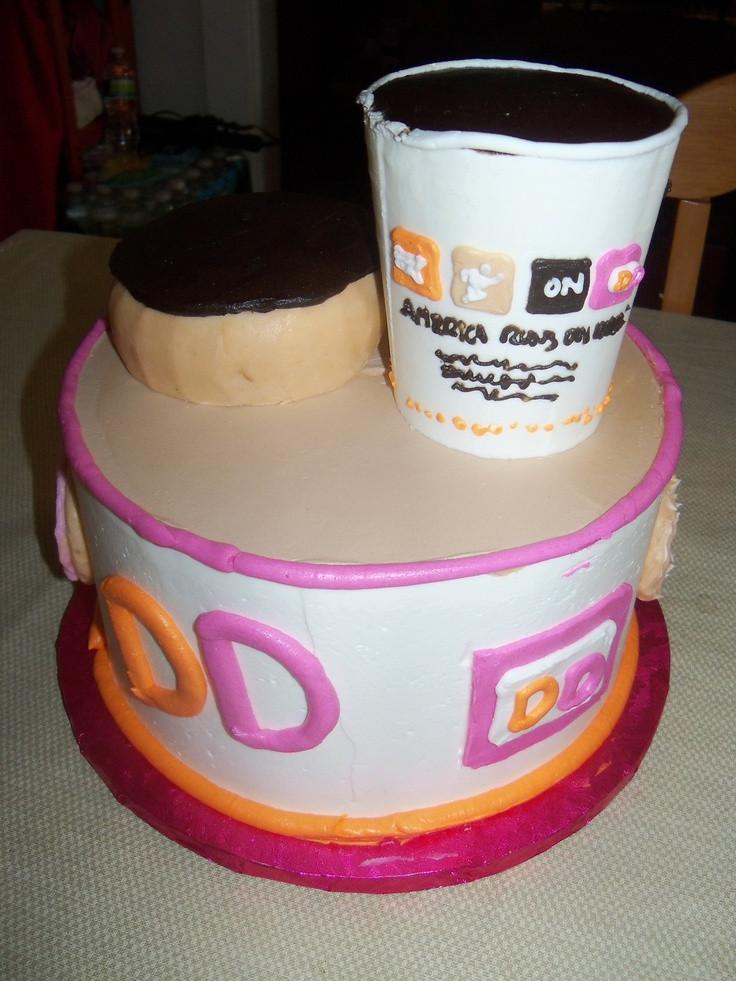 Dunkin Donuts Birthday Cake  76 best Creativity Runs Dunkin images on Pinterest