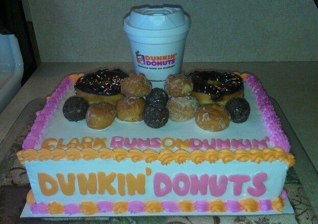 Dunkin Donuts Birthday Cake  Dunkin Donuts cake I made CAKES I MADE
