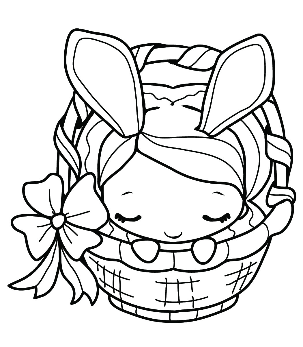 Best ideas about Easter Coloring Pages For Girls . Save or Pin EASTER COLOURING BUNNY GIRL COLORING PAGE Now.